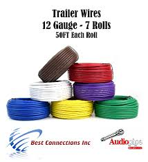 7 way trailer wire light cable for harness 50 ft each roll 12