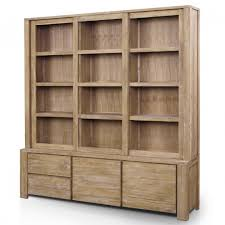Natural Wood Bookcase Marvelous Appealing Wood Bookcase With Doors Solid Wood