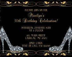 women u0027s 50th birthday invitation 50th birthday