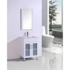 Modern White Bathroom Vanity by 24 Inch Belvedere White Bathroom Vanity With Marble Top And