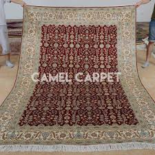 hand knotted pure silk beautiful rugs for living room camel carpet