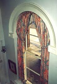 How To Hang Curtains On A Round Top Window Curved Curtain Rods For Arched Arch Window Shade Arch Window