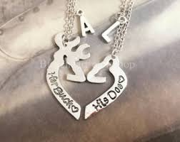 buck and doe couples necklace his and hers jewelry etsy