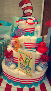 Diaper Cake Decorations For Baby Shower Dr Seuss Diaper Cake For Baby Shower Cat In The Hat Do It Yo