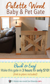 Free Woodworking Plans For Baby Crib by Palette Wood Baby U0026 Pet Gate I Think We Could Be Friends