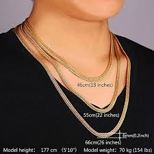 men necklace lengths images U7 men chain 18k stamp fashion jewelry foxtail chain 6mm wide gold jpg