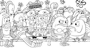 attractive design spongebob coloring pages printable for kids