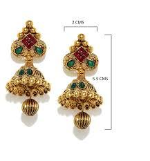 design of earrings buy zaveri pearls jhumki earrings for women golden zpfk5037