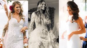 beaded wedding dresses 14 most gorgeous wedding dresses of 2016 entertainment tonight