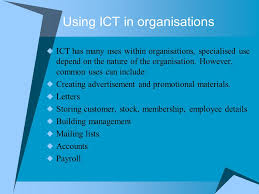 using ict in organisations ppt download