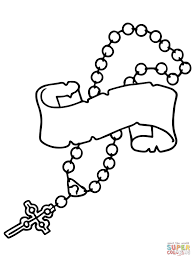 rosary coloring pages funycoloring