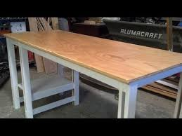 Build A Wooden Computer Desk by Easy Single Sheet Plywood Desk Youtube