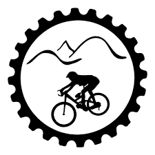 mountain bike with gear outdoor sticker auto decal
