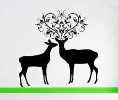 deer antler deer decor buck and doe deer decal deer wall zoom