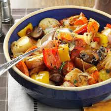 Roasted Vegetables Recipe by Thyme Roasted Vegetables Recipe Taste Of Home