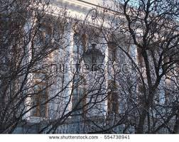 beautiful white palace on background tree stock photo 554738947