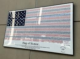 9 11 Remembrance Flag Logan Airport Exhibit Displays Images Of 9 11 Memorials Around The