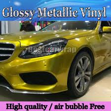 gold glitter car protwraps glossy gold metallic vinyl wrap air release car covers