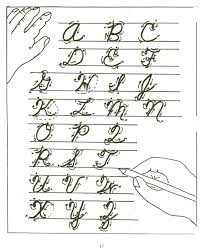 100 upper case cursive tracing guide with arrows uppercase