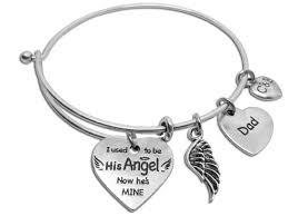 remembrance charms you re my angel now parent remembrance bangle charms and bangles