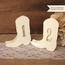 country wedding table numbers western wedding decor cowboy