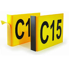 Aisle Markers Angled Aisle Markers 1 Sided Flag 95mm X 130mm Csi Products