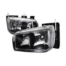 cadillac escalade fog lights 99 00 cadillac escalade black style reflector headlights
