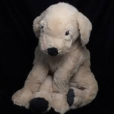 ikea gosig golden retriever puppy tan dog plush soft toy stuffed