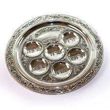 buy seder plate buy intricate carved trim silver seder plate israel catalog