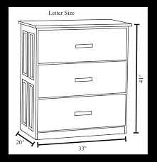 Lateral File Cabinet Dimensions 3 Drawer Lateral File Cabinet Ohio Hardwood Furniture