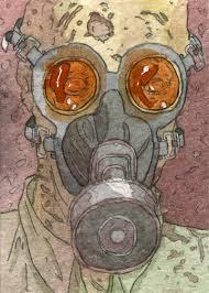 gas mask zombie by donmatthews on deviantart