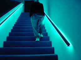 stair handrail lighting ideas installation stair handrail
