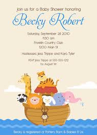 noah ark baby shower noah s ark 2 baby shower invitations