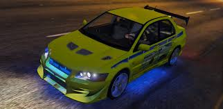 mitsubishi evo 7 custom 2f2f edition 2002 mitsubishi lancer evolution vii gta5 mods com
