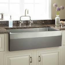 Kitchen Faucets Contemporary Kitchen Rectangular Stainless Steel Undermount Farmhouse Sink