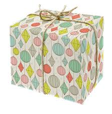 thick christmas wrapping paper set of 6 gift wrap sheets in bauble design 50x70 cm printed on