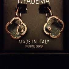 dyadema earrings dyadema gold plated 925 silver clover earrings from
