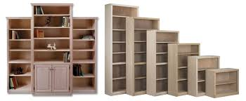 Bookcase Maple Oak U0026 Maple Unfinished Solid Real Wood Bookcases Furniture Gallery