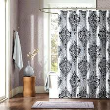 Shower Curtains Black Awesome Vinyl Shower Curtains Black And White Variety Pattern