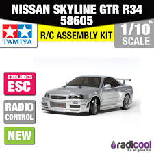 new 58605 tamiya 1 10th r c nissan skyline gtr r34 z tune tt 02d