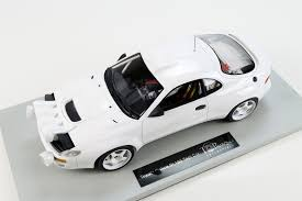 toyota white car top marques collectibles toyota celica st 185 test car 1 18 white