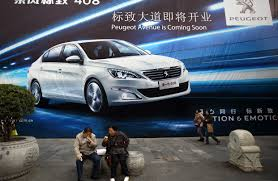 peugeot dealers inventories rise at chinese auto dealers wsj