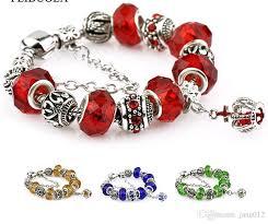 bead bracelet european images Crystal charm bead fit european style pandora bracelets gold blue jpg