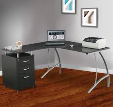 Office Desk With File Cabinet Unsurpassed Ways To Distribute L Shaped Office Desks L Shaped