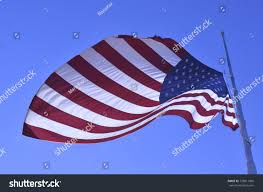 Why Are The Flags Flying Half Mast American Flag Flying Half Staff Half Stock Photo 728011006