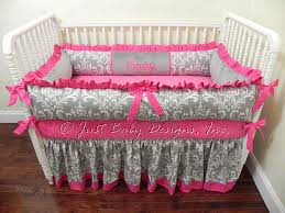 Custom Crib Bedding Sets Custom Crib Bedding Set Emery Baby Bedding Pink And