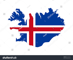 Iceland On Map Illustration Iceland Flag On Map Country Stock Illustration