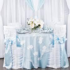 chair sash standard baby blue satin sash cv linens