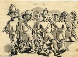 sketches from hell touching cartoons drawn by british soldier