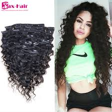 pics of black woman clip on hairstyle clip in human hair extensions curly african american clip in hair